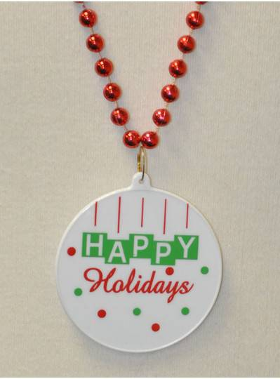 Happy Holidays Disc Bead