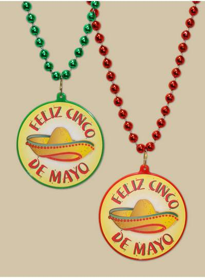 Feliz Cinco de Mayo Decal Bead with Sombrero