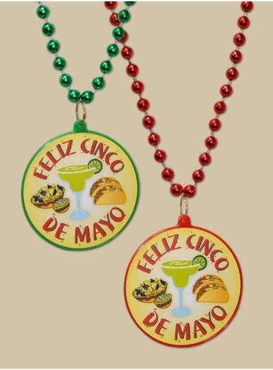 Feliz Cinco de Mayo Decal Bead with Margaritas and Tacos