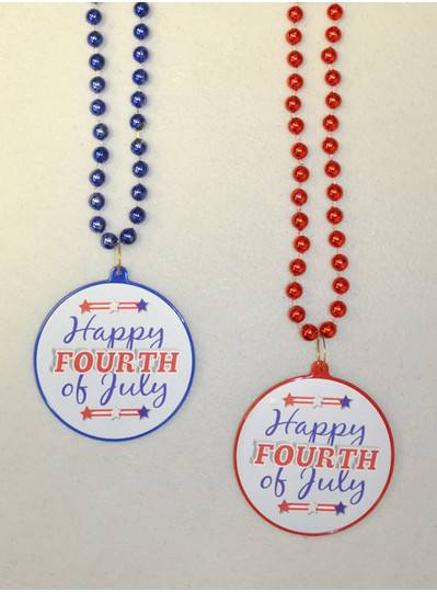 Fourth of July Decal Bead
