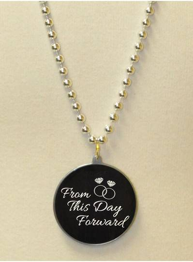 """From This Day Forward "" Decal Bead in Silver"