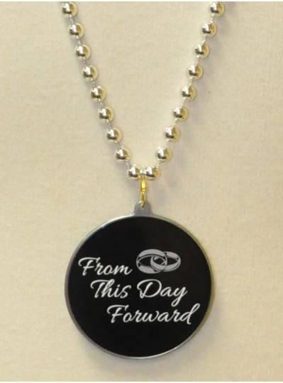 """""""From This Day Forward """" Decal Bead in Silver"""