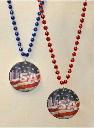 Poly-Resin Patriotic USA Bead