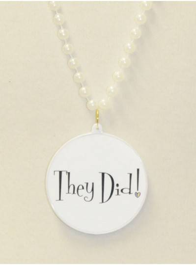"""They Did! "" Decal Bead in White"