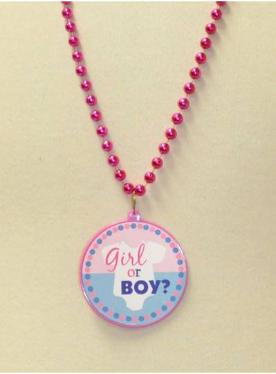 Baby Shower Girl or Boy? On Pink and Blue Beads