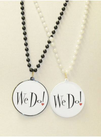 """""""We Do!"""" Decal Bead in Black and White"""