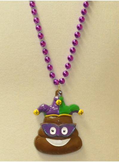 "36"" 10MM Purple Emoji Poop Jester"