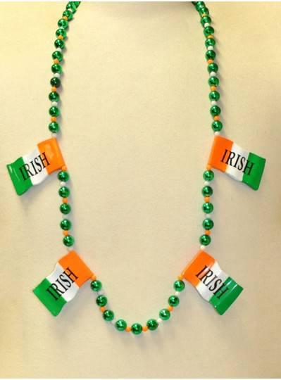 """42"""" Green, White and Orange with Irish Flags"""