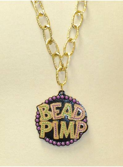 Bead Pimp Polystone with Thin Chain