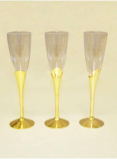 Tableware Gold Plastic Champagne Glass