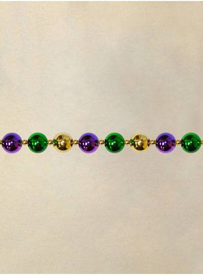 9 Purple, Green and Gold Round 30MM Beads with Gold Spacers