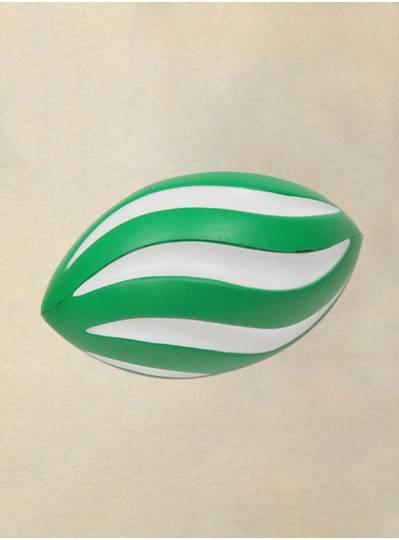 "Plush Dolls & Toys - 7"" Green and White Swirl Foam Football"