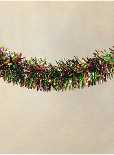 "7"" X 9 Thick Foil Purple, Green and Gold Garland"