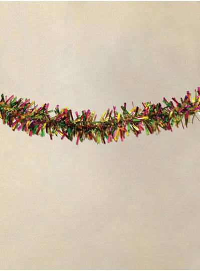 """3"""" X 9 Purple, Green and Gold Foil Garland"""