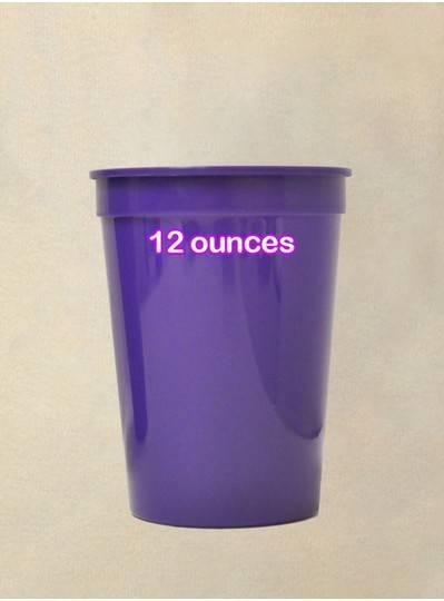 Plastic Cups 12 Ounce Purple Cup