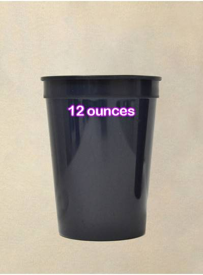 Plastic Cups 12 Ounce Navy BL Cup
