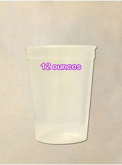 Plastic Cups 12 Ounce Natural Cup