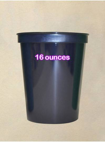Plastic Cups 16 Ounce Navy Blue Cup
