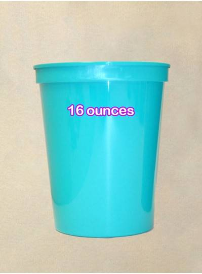 Plastic Cups 16 Ounce Turquoise Cup
