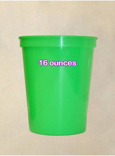 Plastic Cups 16 Ounce Lime Green Cup