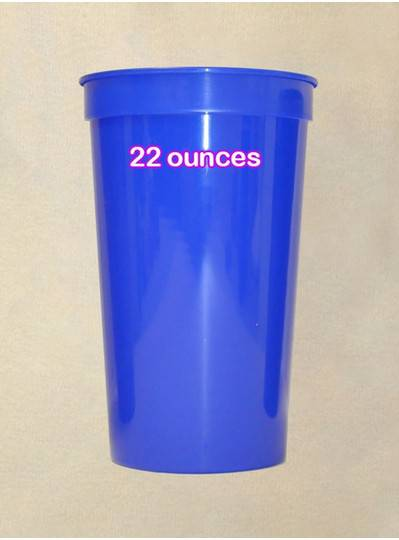 Plastic Cups 22 Ounce Royal Blue Cup