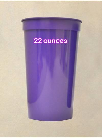 Plastic Cups 22 Ounce Purple Cup