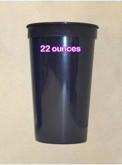 Plastic Cups 22 Ounce Navy Blue Cup