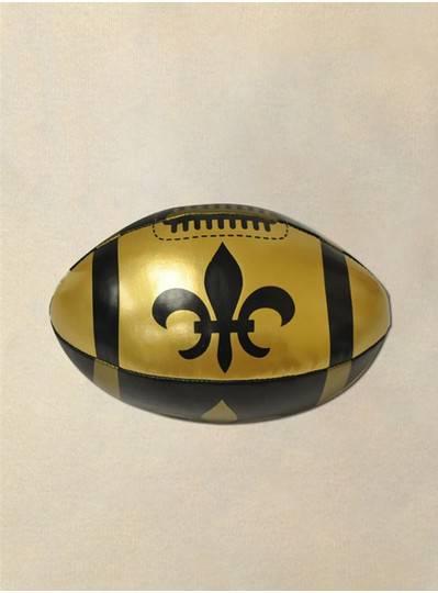 "Plush Dolls & Toys - 6"" Vinyl Fleur De Lis Black & Gold Football"