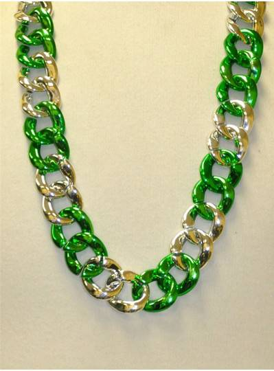 "36"" Twist Chain Section in Green and Silver"