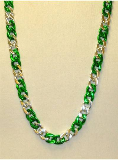 "36"" Mini Chain Section in Green and Silver"