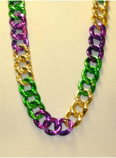 """36"""" Twist Chain Section in Purple, Green and Gold"""