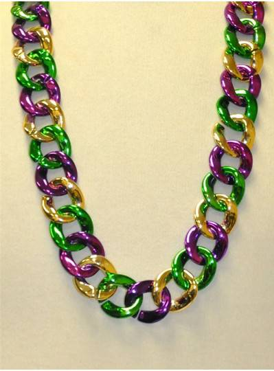 """36"""" Twist Chain Single in Purple, Green and Gold"""