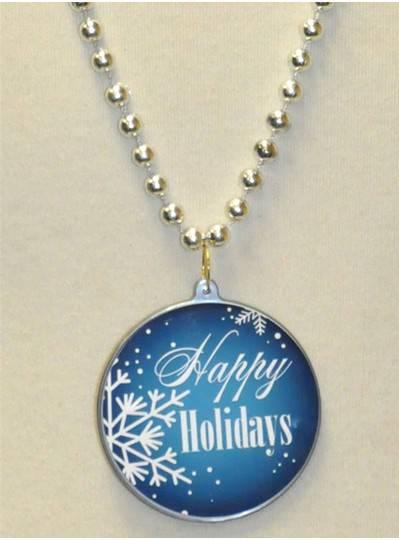 "33"" 7.5MM Happy Holiday Snowflake"