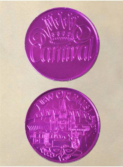 Purple Doubloon Coins 100/Bag