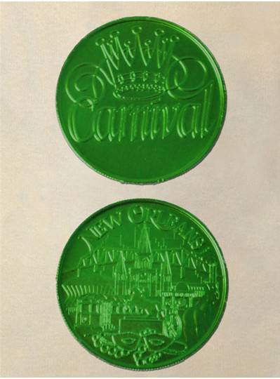Green Doubloon Coins 100/Bag