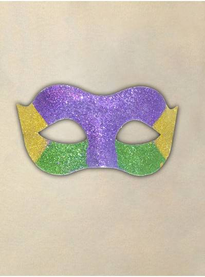 Purple, Green & Gold Glitter Mask