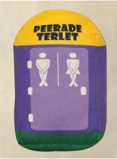 "8"" Plush Purple, Green & Gold Port-O-Let"