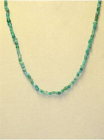 Handstrung Turquoise Glass Beads