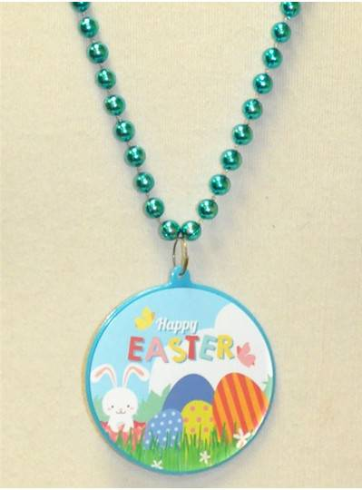 """33"""" 7.5MM Turquoise Easter Eggs & Bunny Decal"""