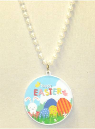 "33"" 7.5MM White Easter Eggs & Bunny Decal"