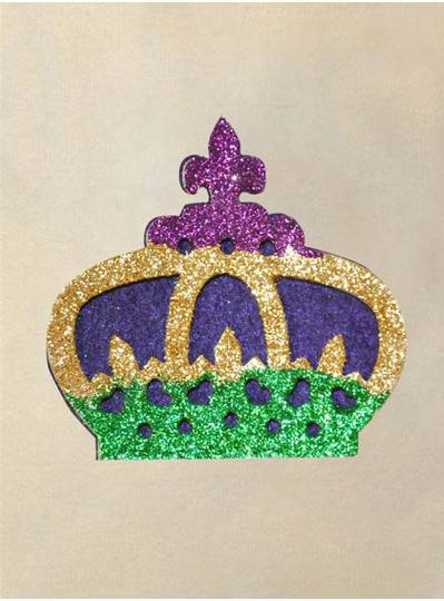 PGG Glitter Crown Felt Back