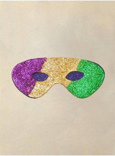 PGG Glitter Mask Felt Back