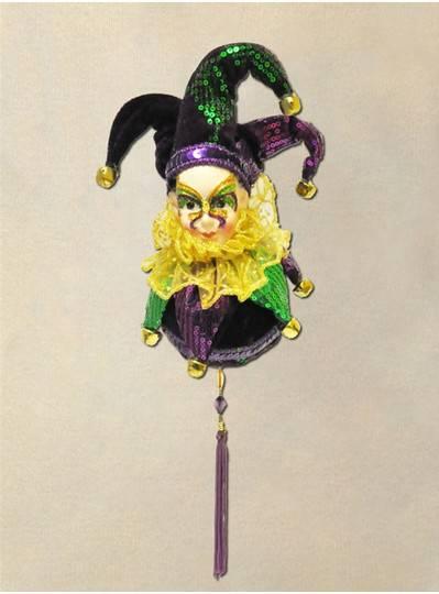 """9"""" Mardi Gras Hanging Balls"""