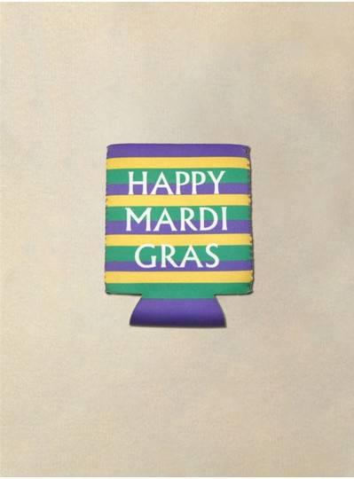 Fun Accessories - Happy Mardi Gras Koozie