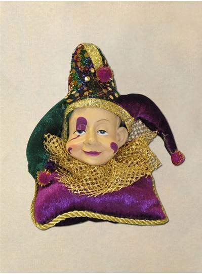 "4"" Mardi Gras Jester Ornament"