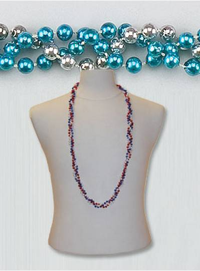 """42"""" Twist Beads Turquoise & Silver"""