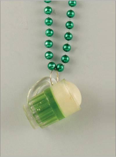 Green Beer Beads