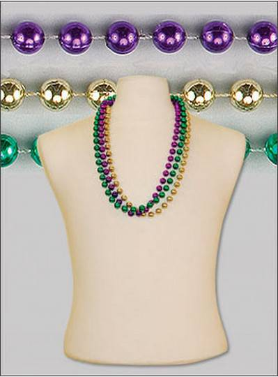 "33"" 12mm Round Metallic Purple, Green & Gold"