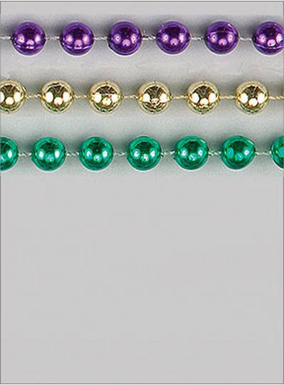 "42"" 22mm Round Metallic Purple, Green & Gold"
