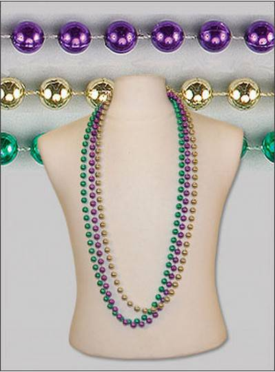 "48"" 12mm Round Metallic Purple, Green & Gold"